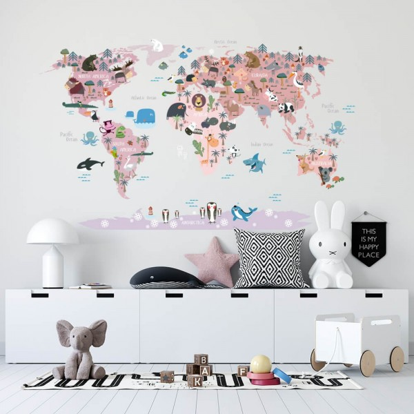copy of Animal world map in...